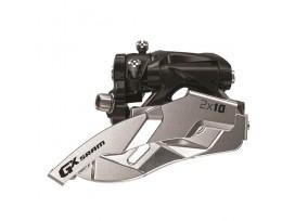 SRAM Dérailleur AV GX 2x10V Fix Collier Bas 38/36dts tirage haut/bas