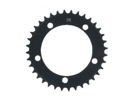 SRAM Plateau BMX 36 dts alu, 4mm, 5 trous, diam 110mm, mono, noir