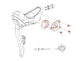SRAM Red eTap Shifter Battery Hatch and Screws Left