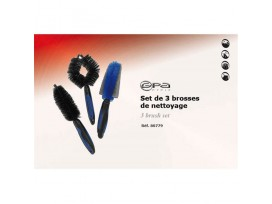 GPA CYCLE Set de 3 Brosses de Nettoyage