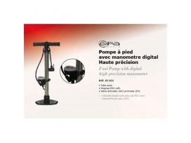 GPA CYCLE Pompe à pied avec manometre digital haute précision