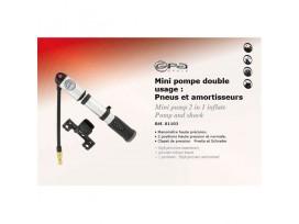 GPA CYCLE Mini Pompe double usage: Pneus et amortisseur