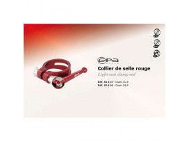 GPA CYCLE Collier de selle Rouge Diam 31.8
