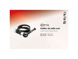 GPA CYCLE Collier de selle Noir 31.8