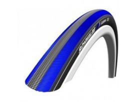 SCHWALBE pneu LUGANO 23-622 700x23C noir/bleu tringle souple