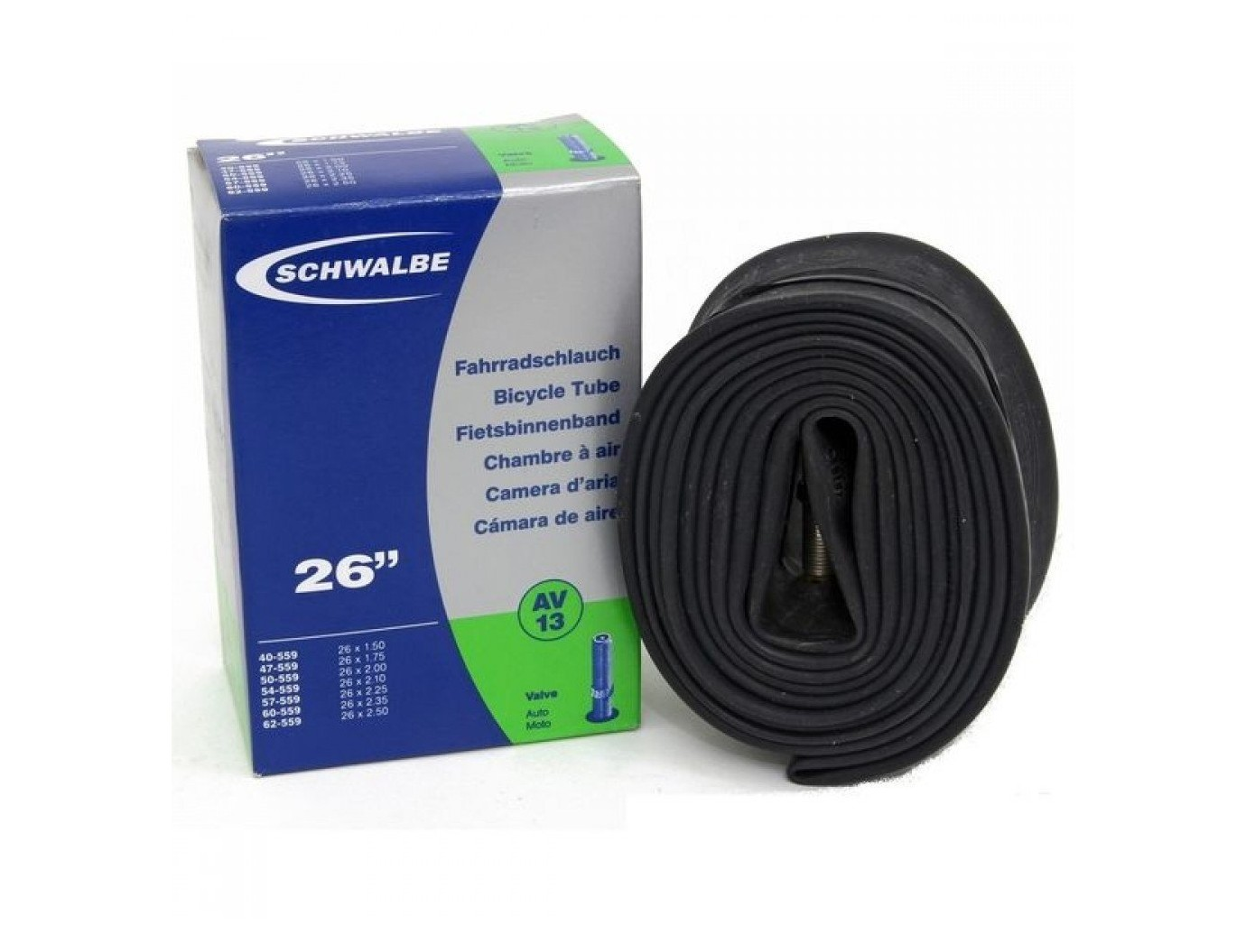 Schwalbe chambre air vtt av13 26p schr der 40mm etrto for Chambre a air vtt increvable