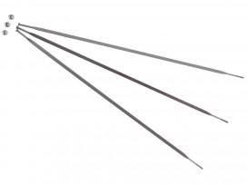 SRAM Kit 3 Rayons et Têtes 246mm pour S60 Arrière Argent Côté Chaine