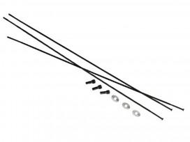 "SRAM Rayons et Têtes 3pack 281mm Bladed StraiPull Ext Noir Roam 50 27.5"""