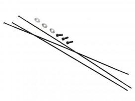"SRAM Rayons et Têtes 3pack 281mm Bladed StraiPull Ext Noir Rail 50 27.5"""