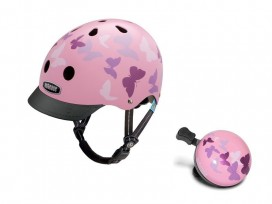 Pack Sonnette + Casque de vélo NUTCASE Little Nutty – Papillons