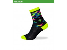 BIOTEX Chaussettes multicolores diamants fantaisie