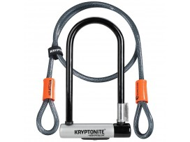 Antivol en U KRYPTONITE - Kryptolock + Cable 120cm - Sécurité 6/10
