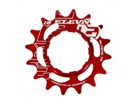 Pignon ELEVN aluminum rouge