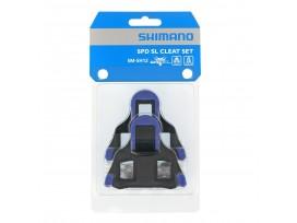 Paire Cales SHIMANO Rte Bleu SM-SH12 SPD-SL, Liberte Moyenne