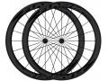 FLASH Paire de roues carbone boyaux T50 Black line - Noir
