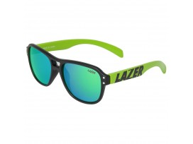 Lazer - Lunettes Kidiator KIDI Mat Noir/Flash Vert Verres Simples