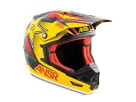 Casque ANSR evolve 2 rockstar 2015 jaune/rouge