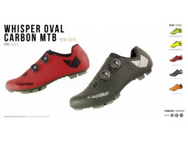 Chaussures WHISPER OVAL CARBON MTB RED CATLIKE