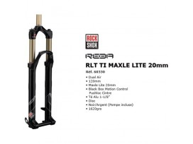 "More about Fourche ROCK SHOX Reba RLT Ti, Dual Air 120mm Maxelite 20mm/1""1/8/Disc"