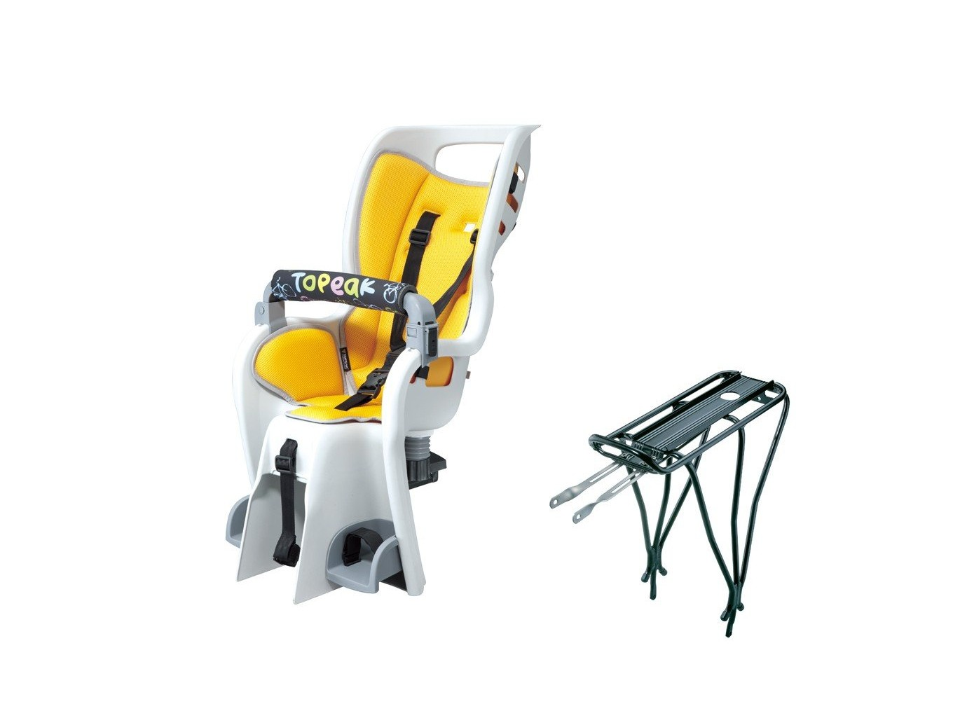 Si ge enfant babyseat ii pad jaune w rack 26 for Siege enfant