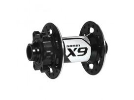 SRAM Moyeux X9 AV disque 6 trous / 32 rayons / axe de 9mm