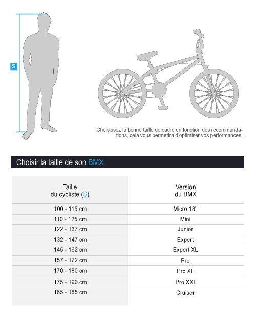 Tailles BMX