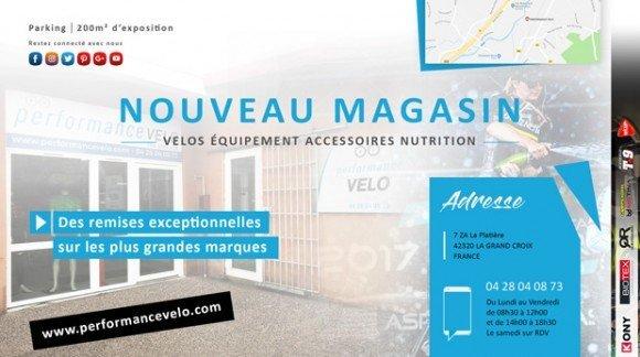 Pour 2018, Performance Vélo vous accueil dans son nouveau Magasin !